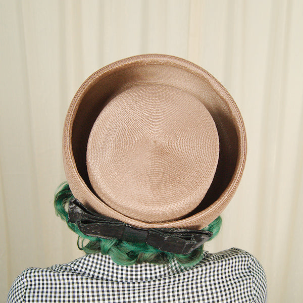 1960s Brown & Black Sun Hat by Cats Like Us - Cats Like Us