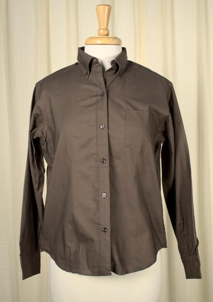1960s Brown Button Down Shirt