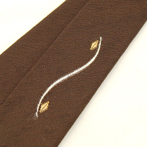 1960s Brown Curve Skinny Tie by Cats Like Us - Cats Like Us