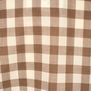 1960s Brown Gingham Shirt - Cats Like Us