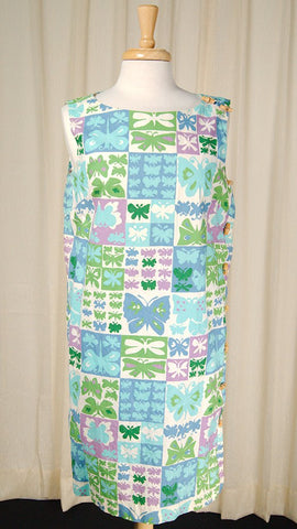 1960s Butterfly Tiki Dress