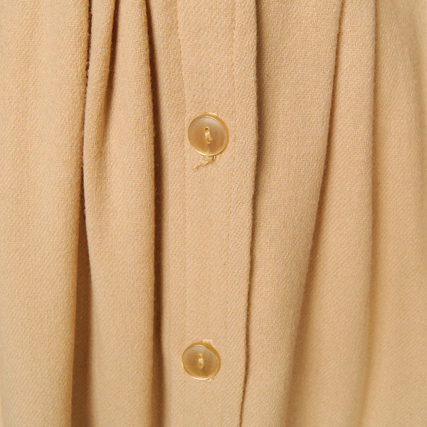 1960s Caramel Wool Shirt Dress by Cats Like Us : Cats Like Us