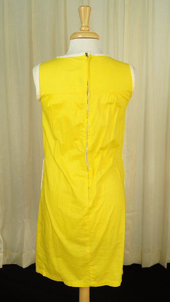 1960s Casual Yellow Smock Dress - Cats Like Us