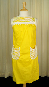 1960s Casual Yellow Smock Dress by Vintage Collection by Cats Like Us - Cats Like Us