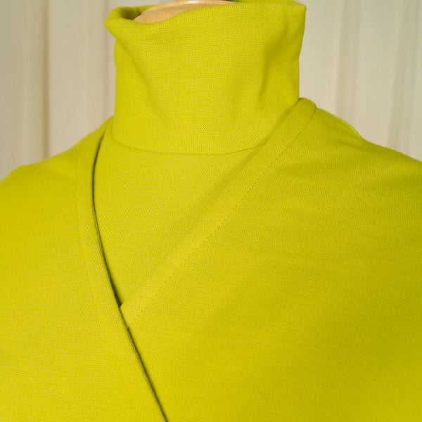 1960s Chartreuse Skirt Suit by Cats Like Us - Cats Like Us