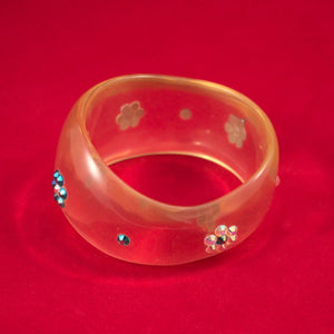 1960s Clear Lucite Bangle - Cats Like Us