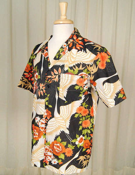 1960s Crane Hawaiian Shirt by Cats Like Us - Cats Like Us