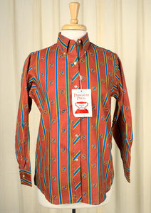 1960s Crest & Stripe Shirt