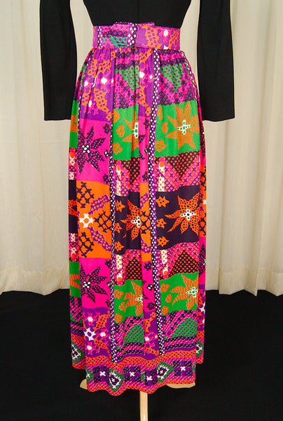 1960s Cross Stitch Maxi Dress by Cats Like Us - Cats Like Us