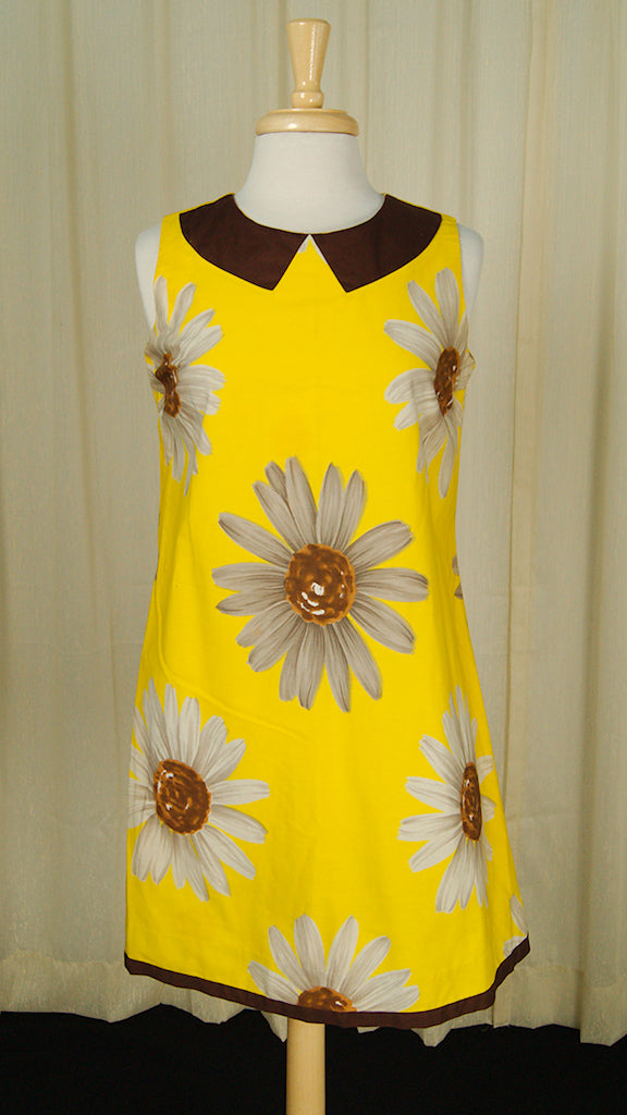1960s Daisy Mini Dress by Vintage Collection by Cats Like Us - Cats Like Us