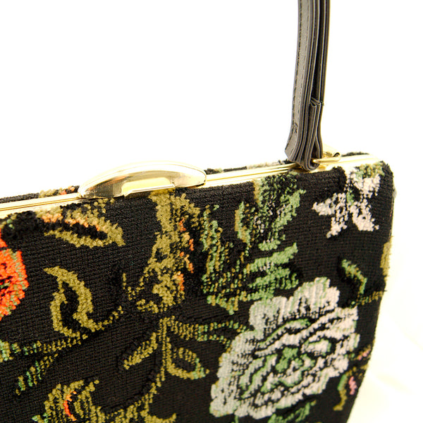 1960s Floral Carpet Handbag by Vintage Collection by Cats Like Us : Cats Like Us