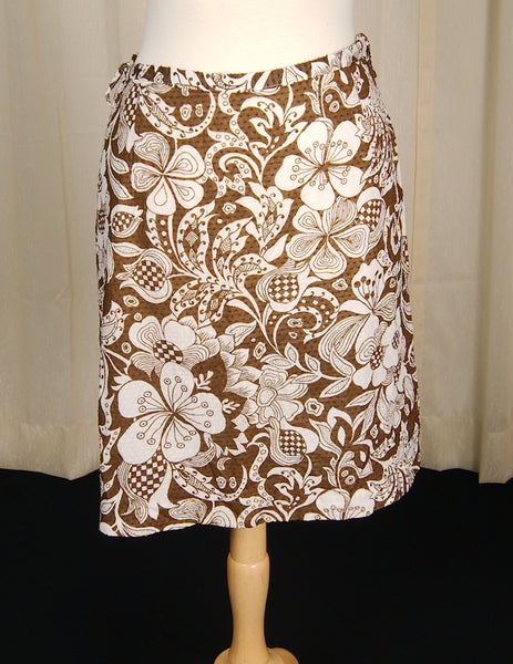 1960s Floral Chic Skirt Set