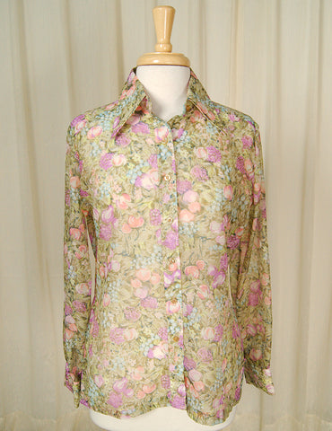 1960s Fruit Blouse Shirt by Cats Like Us - Cats Like Us