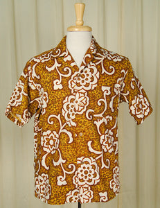 1960s Golden Hawaiian Shirt by Vintage Collection by Cats Like Us : Cats Like Us