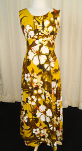 1960s Golden Hibiscus Dress