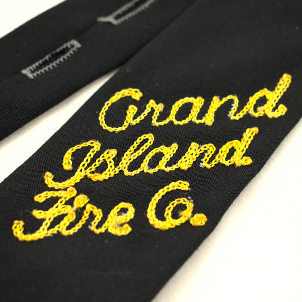 1960s Vintage Grand Island Fire Co Tie