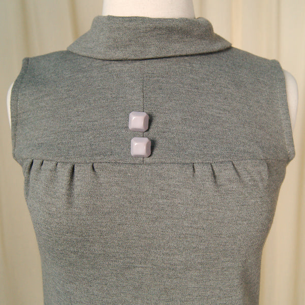 1960s Gray Knit Shift Dress by Vintage Collection by Cats Like Us : Cats Like Us