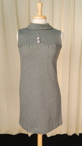 1960s Gray Knit Shift Dress by Cats Like Us : Cats Like Us