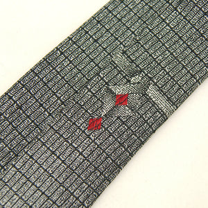 1960s Gray Rectangle Skinny Tie by Cats Like Us - Cats Like Us