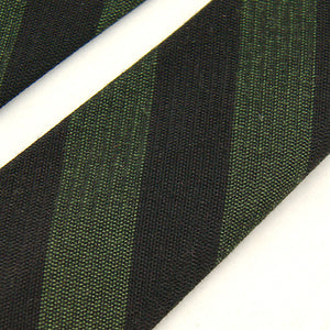 1960s Green & Black Striped Tie by Cats Like Us - Cats Like Us