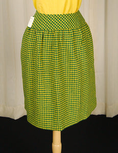 1960s Green & Yellow Skirt by Cats Like Us - Cats Like Us