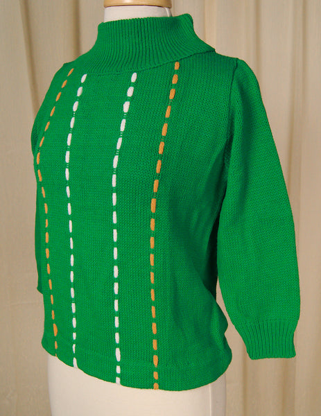 1960s Green Chunky Sweater by Vintage Collection by Cats Like Us - Cats Like Us