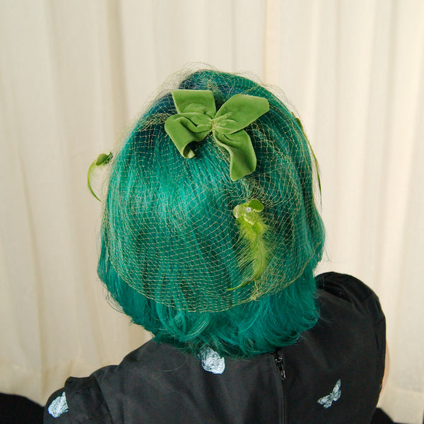 1960s Green feather Whimsy by Cats Like Us - Cats Like Us