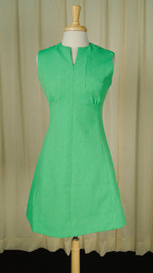 1960s Green Scooter Dress by Vintage Collection by Cats Like Us - Cats Like Us