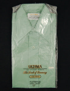 1960s Green Textured Shirt
