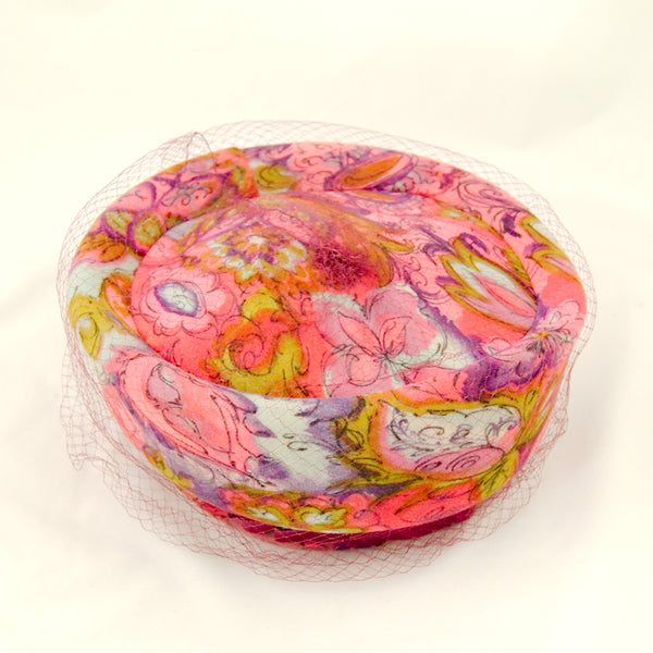 1960s Groovy Fabric Hat by Cats Like Us - Cats Like Us