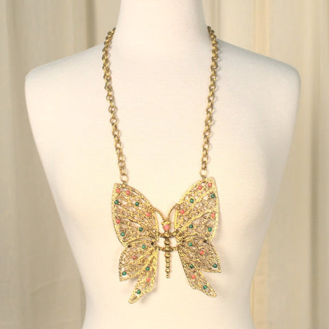 1960s Huge Butterfly Necklace