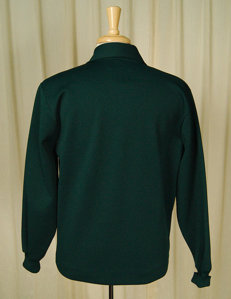 1960s Hunter Green Knit Jacket by Vintage Collection by Cats Like Us - Cats Like Us