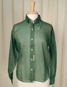 1960s Hunter Green Shirt