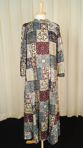 1960s Irish Tile Maxi Dress by Cats Like Us - Cats Like Us