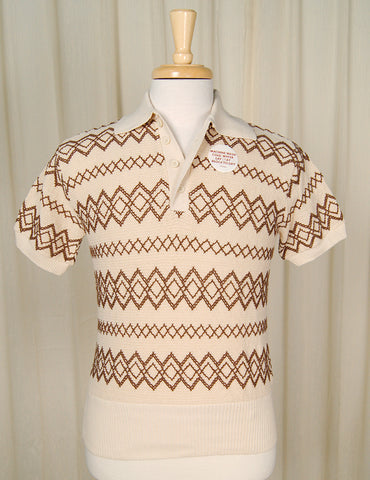 1960s Knit Sweater Polo Shirt