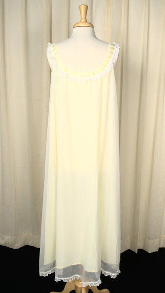1960s Lace & Ribbon Night Gown