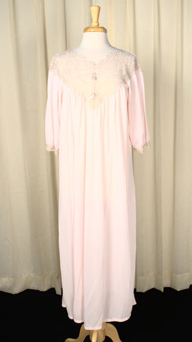 1960s Lacy Sheer Night Gown