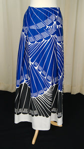 1960s Lanvin Signed Maxi Skirt by Cats Like Us - Cats Like Us