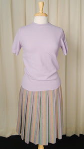 1960s Lavender SS Sweater - Cats Like Us