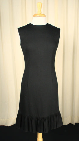 1960s LBD Ruffle Sheath Dress