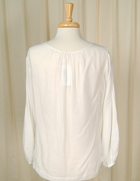1960s Long Sleeve Peasant Top by Cats Like Us - Cats Like Us