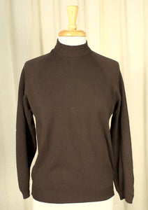 1960s LS Brown Knit Top