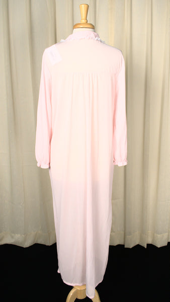 1960s LS Sheer Pink Night Gown
