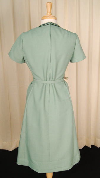 1960s Mint Green Wiggle Dress