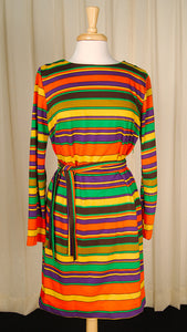 1960s Mod Striped Shift Dress