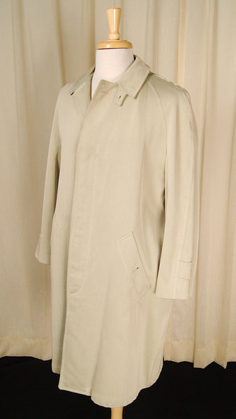 1960s Mohair Lined Trench Coat