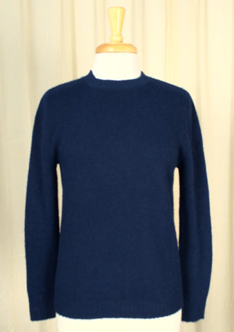 1960s Navy Crewneck Sweater