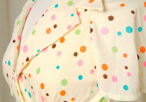 1960s Neon Polka Dot Halter Top