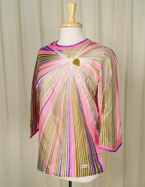 1960s Neon Vera Burst Blouse by Cats Like Us - Cats Like Us