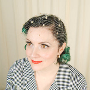 1960s Off White Fascinator by Cats Like Us - Cats Like Us